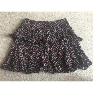 Trina Turk Floral Ruffled Tiered Skirt Sz 4